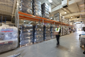 The new warehouse has 15,000 square feet of space